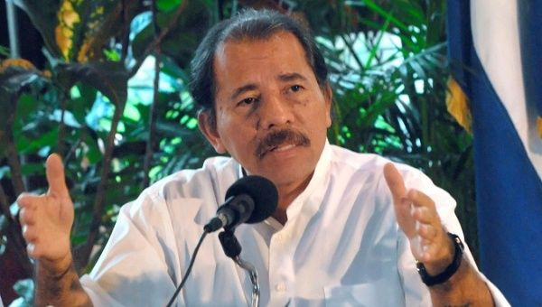 "President Daniel Ortega criticized right-wing opposition groups for ""conspiring"" against his government."