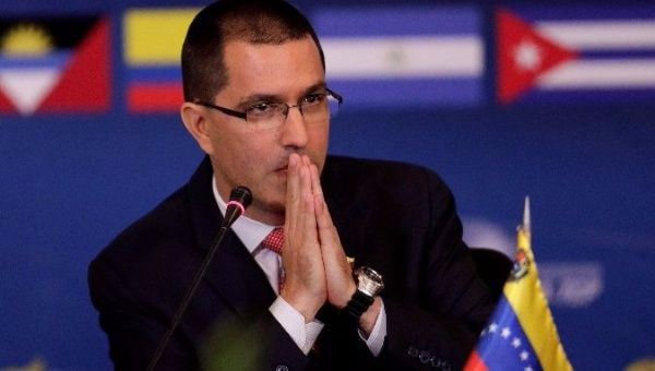Arreaza said the United States has historically been documented violating human rights.