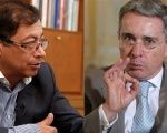 Leading leftist candidate Gustavo Petro confronts former president Uribe over murdered witness in ongoing case.