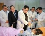 North Korean leader Kim Jong Un visits a hospital following a deadly bus accident involving dozens of Chinese tourists.