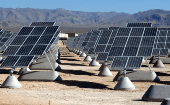 The largest photovoltaic solar power plant in the United States at Nellis Air Force Base outside of Las Vegas, Nevada