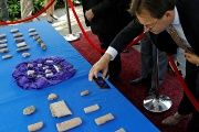U.S. Immigration and Customs Enforcement (ICE) hosts an event to return several thousand ancient artifacts to the Republic of Iraq, at the Iraqi ambassador's residence in Washington, DC, U.S., May 2, 2018.