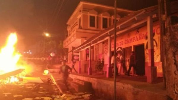 Local outlets reported that a local house for the Sandinista National Liberation Front (FSLN) was sacked and burned.