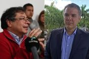 Candidates Gustavo Petro (l) and Ivan Duque (r) are expected to make it to the second round.