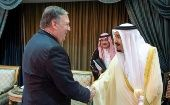 U.S. Secretary of State Mike Pompeo (L) with Saudi Arabia
