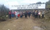 """The people of Molleturo demand the immediate exit of the Chinese company."""
