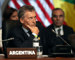 Argentina's President Mauricio Macri participates in the opening session of the Americas Summit in Lima, Peru April 14, 2018