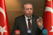 Turkey's President  Recep Tayyip Erdogan says today's deadly Gaza violence to 'genocide'. May 14, 2018.