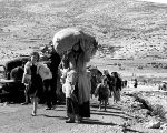 Palestinians in 1948, five months after the creation of Israel, leaving a village in the Galilee.
