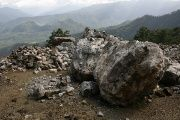 Part of an open cut barite mine, operated by the Canadian BlackFire, in Chicomusuelo, Chiapas. August, 2008.