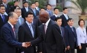 Chinese officials in Beijing welcome Trinidad and Tobago