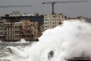 Waves crash against El Malecon ahead of the passing of Hurricane Irma, in Havana, Cuba.