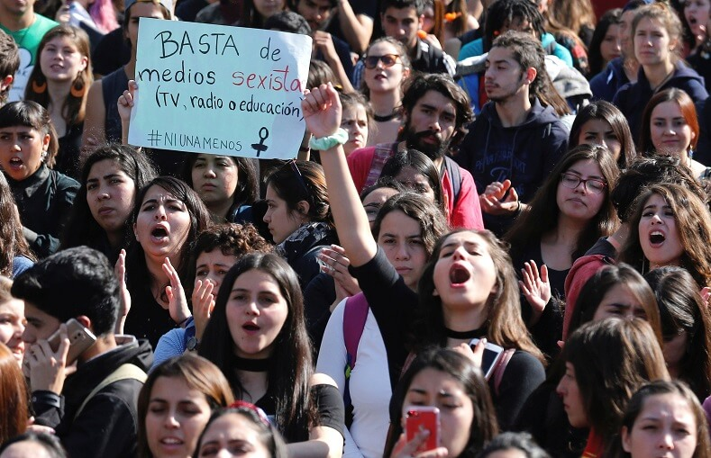 """Enough sexist media. (TV, radio or education). #NotOneLess"""