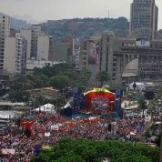 The closing campaign rally of Venezuela