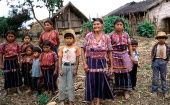 A Cakchiquel family in the hamlet of Patzutzun, Guatemala.