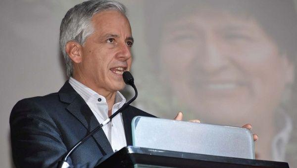 "Bolivian Vice-President Alvaro Garcia Linera said: ""The destiny of Latin America is at play in Venezuela."""