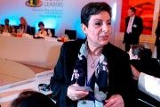 Hanan Ashrawi is a member of the Palestine Liberation Organiization Executive Committee.