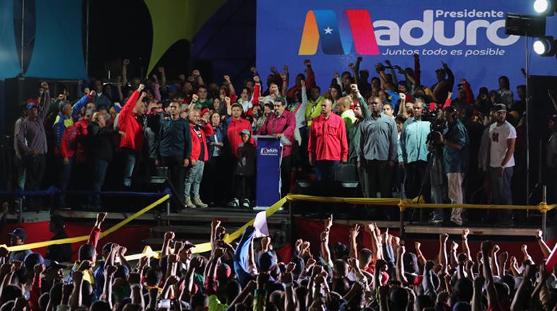 El recién reelecto presidente venezolano, Nicolás Maduro, agradeció a los electores por la victoria conseguida con más del 60 por ciento de votos válidos.