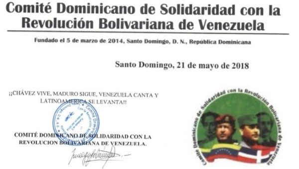 "The committee expressed that the endurance of the ""revolutionary Chavista and socialist"" mantra."