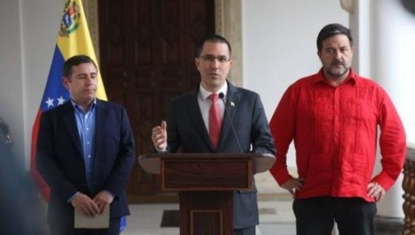 """The Venezuelan people demonstrated yesterday (during the election day) that they have a strong arm and do not let themselves be twisted,"" said Arreaza."