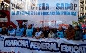 Argentina: Masiva marcha de docentes se toma Buenos Aires