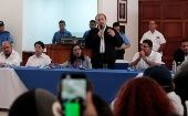 One student leader in the dialogue demanded a constituent assembly and the renunciation of President Daniel Ortega
