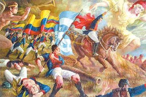 La Batalla de Pichincha fue llevada a cabo por venezolanos y ecuatorianos contra tropas españolas.