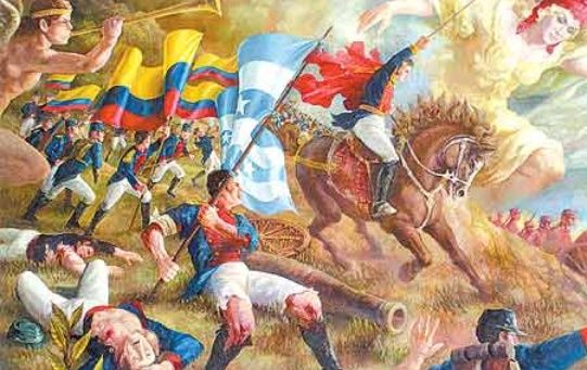 La Batalla de Pichincha fue llevada a cabo por venezolanos y ecuatorianos contra tropas españolas, librada con profunda gallardía.