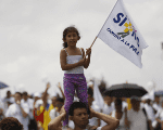 Colombians took to the streets to demand peace with FARC in 2016.