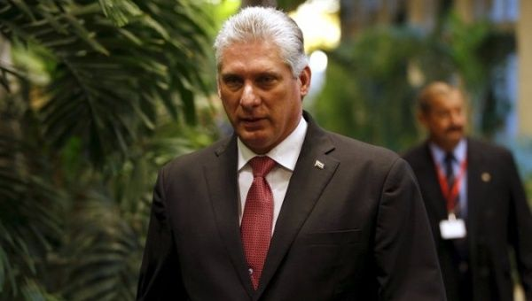 Cuban President Miguel Diaz-Canel.