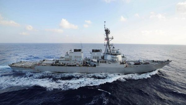 The guided-missile destroyer USS Mahan (DDG 72) transits the Mediterranean Sea in this August 31, 2012 handout photo.