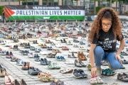 The shoes were donated by citizens from across Europe.