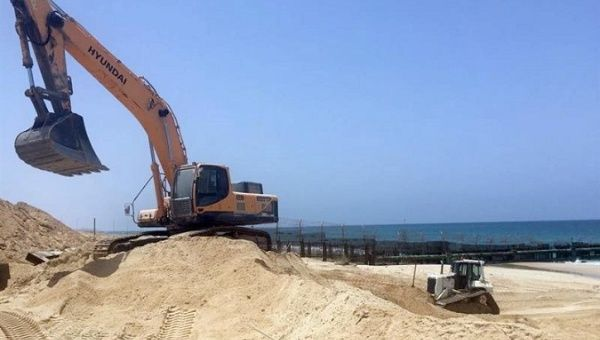 The Israeli State has begun the building of a underwater sea barrier on Gaza