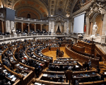 The Portuguese parliament during the election for Portuguese Parliament