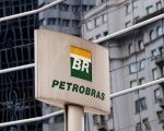 The Petrobras logo is seen in front of the company's headquarters in Sao Paulo, Brazil.
