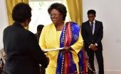 Mia Mottley is sworn in as the newly elected Prime Minister of Barbados.