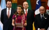 Canadian Foreign Minister Chrystia Freeland during a meeting of the Lima Group, formed last year to put pressure on Venezuela, in Mexico City, Mexico in May 2018.