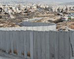 An Israeli settlement behind Israel's illegal