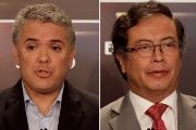 Unlike Petro (R), Duque (L) has been a staunch detractor of the Peace Accords signed with the FARC.