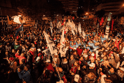 The Federal March in Rosario, before heading to Buenos Aires.