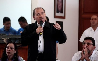 Nicaraguan President Daniel Ortega, whose removal from office has been called for by certain opposition groups.
