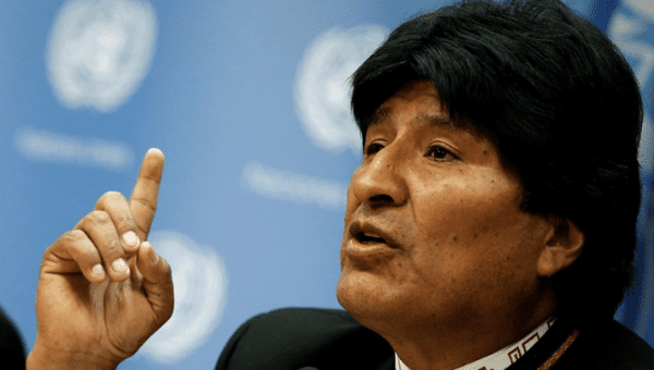 The Bolivian president, Evo Morales, condemned the U.S. vice president Mike Pence
