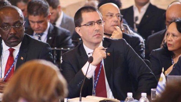 Venezuelan Foreign Minister Jorge Arreaza defended Venezuela