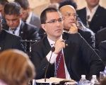 Venezuelan Foreign Minister Jorge Arreaza defended Venezuela's right to self-determination on the OAS session in Washington. June 4, 2019