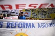Guatemala's Committee of Peasant Development demand agrarian reform during a protest.