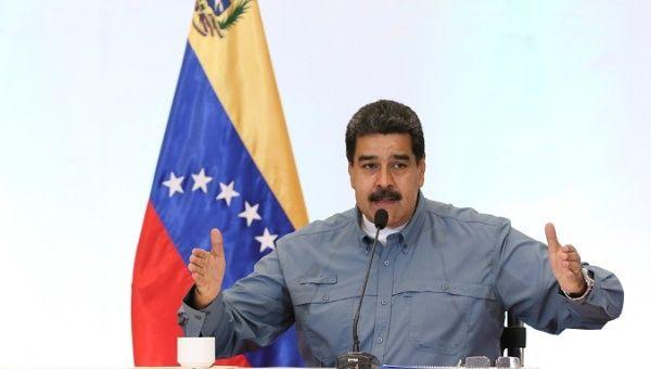 Venezuelan President Nicolas Maduro at a national meeting of the United Socialist Party of Venezuela (PSUV).