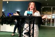 Ecuador's Foreign Minister Maria Fernanda Espinosa at the U.N. Headquarters shortly after being elected in New York, June 5, 2018.