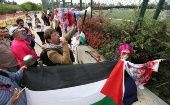 Palestinian rights supporters protest at Argentina