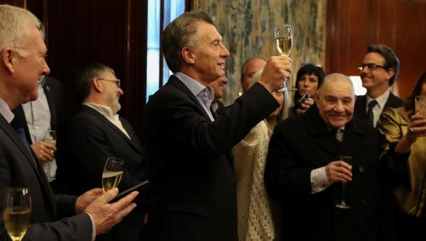 President Mauricio Macri requested IMF support in May, a decision met with protests by broad sectors of the population.