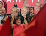 Supporters of Lula da Silva during the event in which his candidacy was officially announced by the Workers' Party in Contagem, Minas Gerais. June 8, 2018.